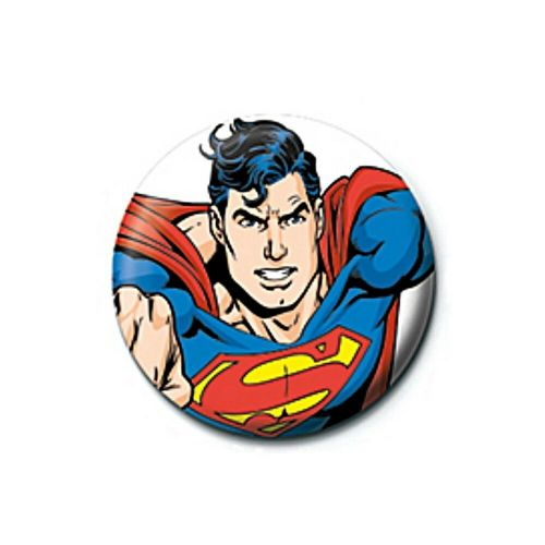 DC Comics Superman Flying Pose Button Badge